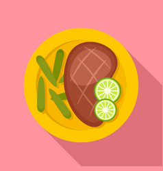 mexican steak icon flat style vector image