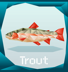 Origami trout banner vector