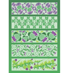 Ornament decorative elements in Celtic style vector