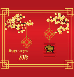 postcard celebrating the chinese new year vector image
