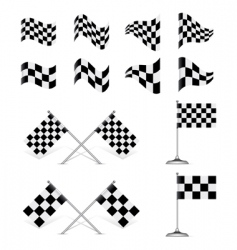 racing flags set vector image