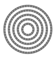 Round ornament meander vector