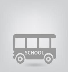 School bus icon vector