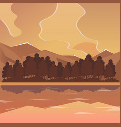 Sea and mountain landscape neverending vector