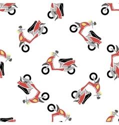 Seamless Bike Pattern vector image
