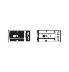 set cinema or online movie ticket vector image