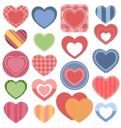 Set colorful hearts vector