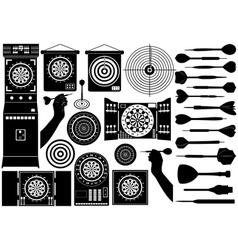 set different dartboards vector image