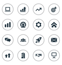 Set of simple startup icons vector