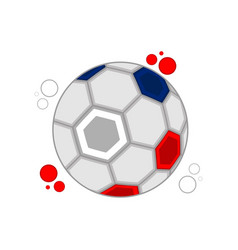 soccer ball with the colors of russia vector image