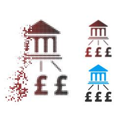 Sparkle pixel halftone pound bank scheme icon vector