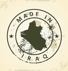 Stamp with map of Iraq vector