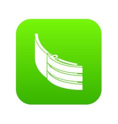 Strap belt icon green vector