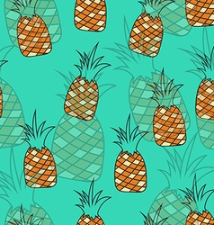 Stylish seamless pattern of pineapples on vector image