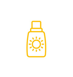 sunscreen icon linear vector image