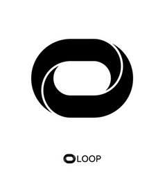 Twisted loop oval letter o logo concept vector