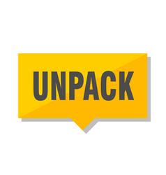 Unpack price tag vector