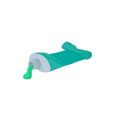 Used tube of toothpaste icon cartoon style vector