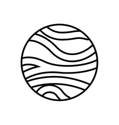 Venus planet isolated icon vector