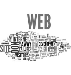 Web don ts don t frustrate your visitors text vector