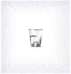 White small glass vector