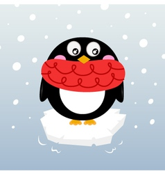 winter penguin vector image
