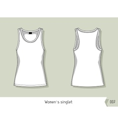 Women singlet Template for design easily vector image