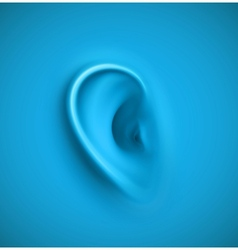 Background with ear vector image vector image