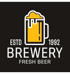 brewery logo or symbol icon vector image vector image