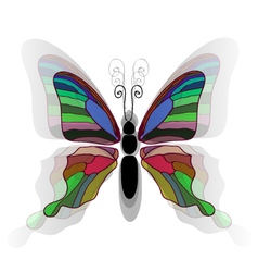Butterfly background2 vector image vector image