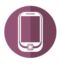 cellphone mobile technology shadow vector image
