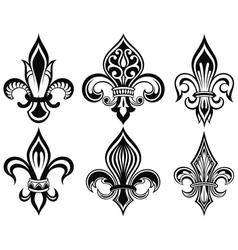 Fleur de lys vintage design icons vector image vector image