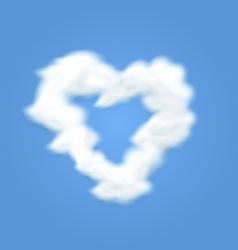 Fluffy Cloud Shape Heart Love vector image