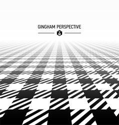 Gingham pattern perspective vector image vector image