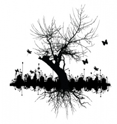 graphic tree vector image vector image