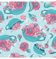 Spring Turquoise Pattern vector image