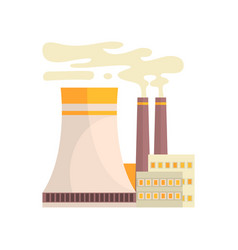 thermal power station industrial manufactury vector image vector image