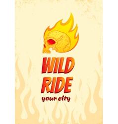 Wild ride vector image vector image
