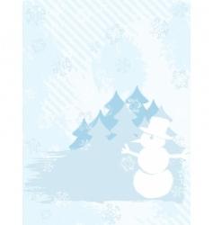 winter background grunge vector image vector image