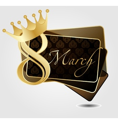 with Crown vector image vector image