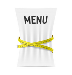 Menu squeezed by measuring tape vector image