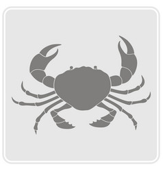 Monochrome icon with crab vector