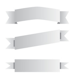three gray ribbon banner sign three gray ribbon vector image