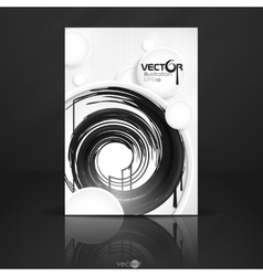 Abstract Background With White Paper Circles vector image vector image