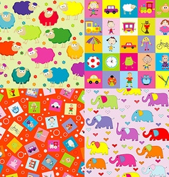 Backgrounds for kids vector image vector image