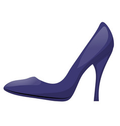dark blue shoe with high heel isolated on white vector image