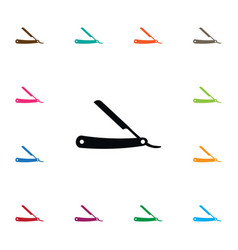 isolated razor icon straight element can vector image