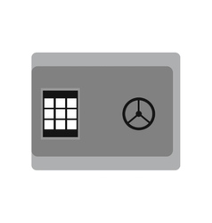 Modern flat icon cash safe on white background vector