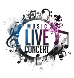 Abstract grunge music live concert poster design vector