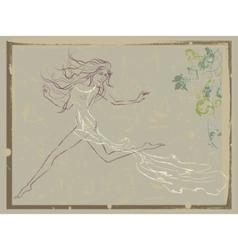 beautiful running woman vector image
